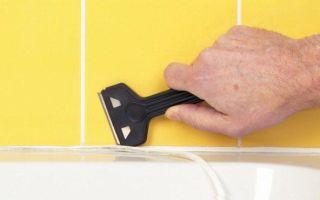 Чем можно оттереть силиконовый герметик с плитки в ванной
