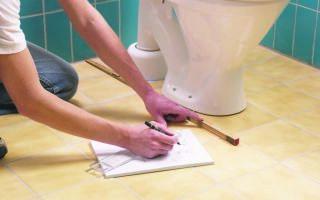 Как правильно приклеить унитаз к керамической плитке