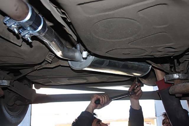 Ремонт выхлопной системы автомобиля