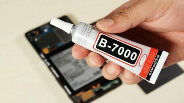 Клей B7000 для проклейки тачскринов: инструкция по применению