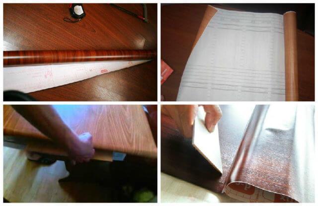 Как надежно обклеить дверь самоклеющейся пленкой
