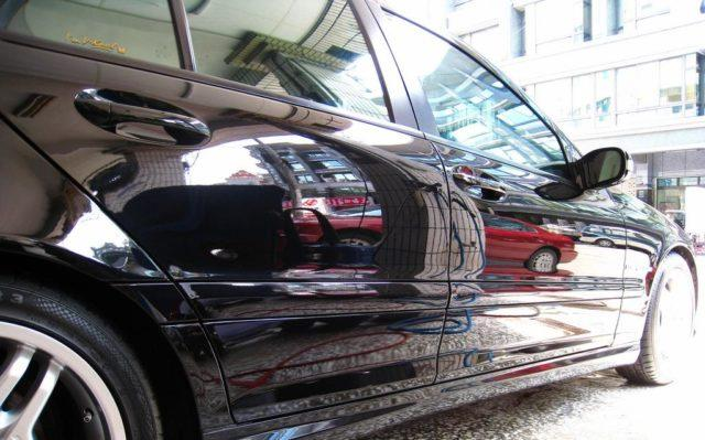 Машина после применения жидкого стекла