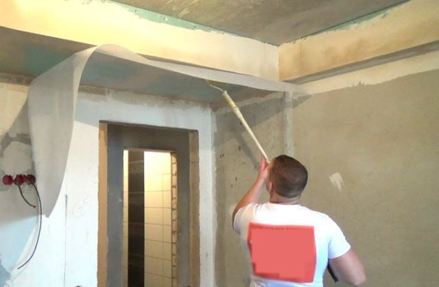 Подготовка потолка