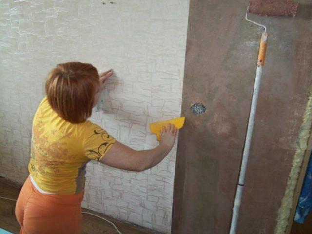 Поклейка обоев на бетонные стены разных видов