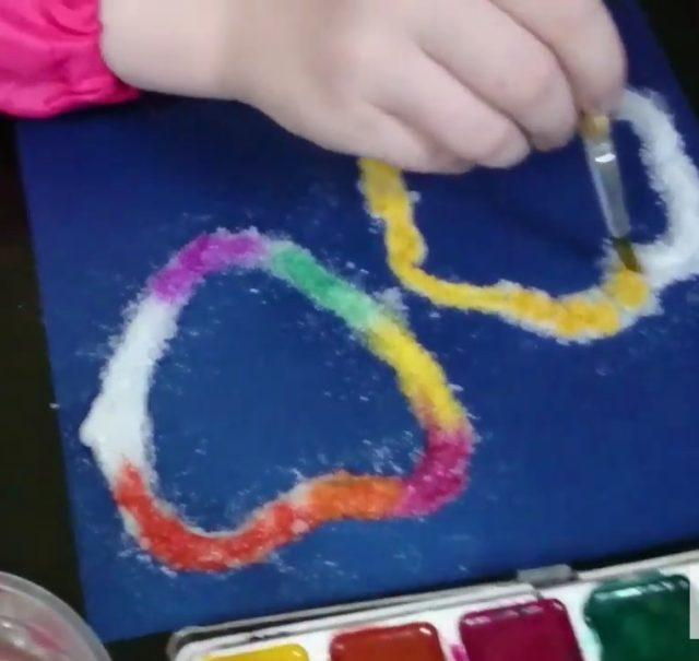 Как правильно рисовать солью, акварелью и клеем