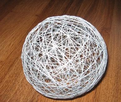 Какие поделки можно сделать из ниток и клея