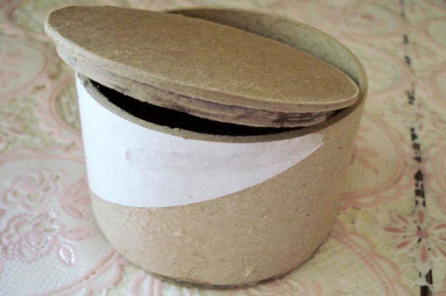 Как сделать шкатулку из бобины от скотча