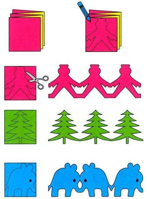 Какие можно сделать поделки из бумаги и клея и ножниц