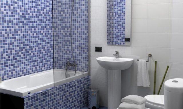 Как правильно клеить мозаику в ванной