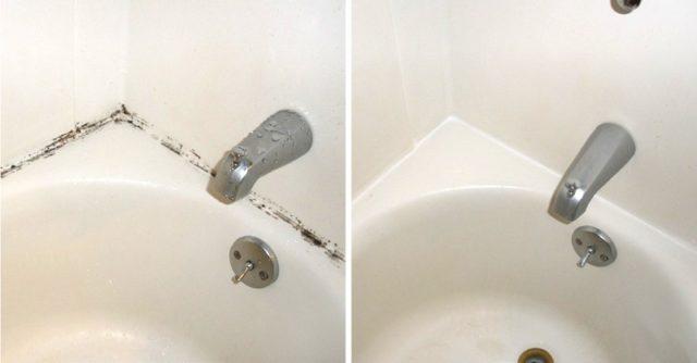 Как правильно удалить плесень в ванной комнате с герметика