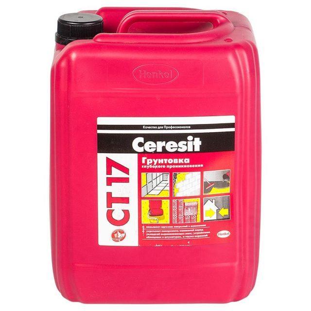 Характеристика и применение грунтовки Ceresit CT-17
