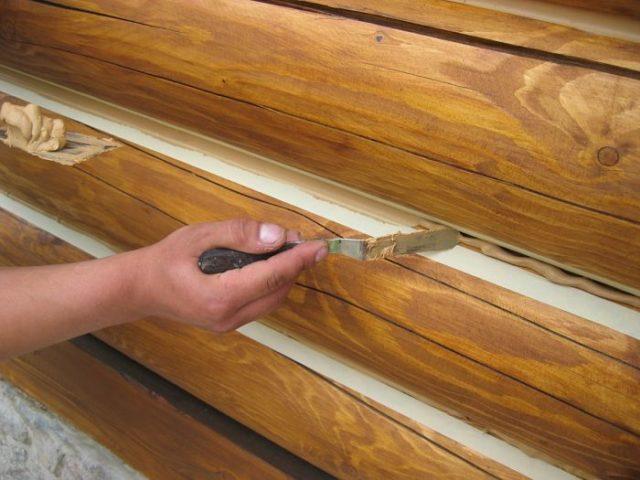 Герметик для деревянного дома межвенцовый при заделке швов