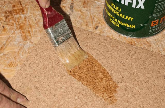Клей для пробки на стены (без запаха) как приклеить, инструкция