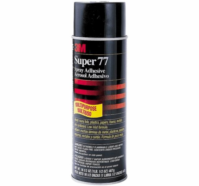 Клей-спрей 3M 77 (аэрозоль): описание, свойства, инструкция