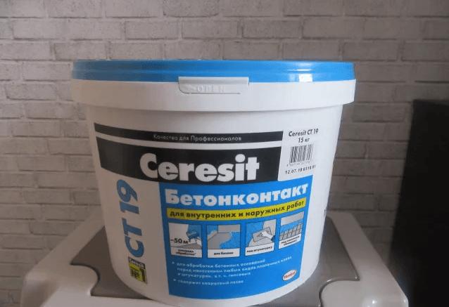 Бетоноконтакт Ceresit (Церезит CT 19): характеристики и инструкция по применения грунтовки
