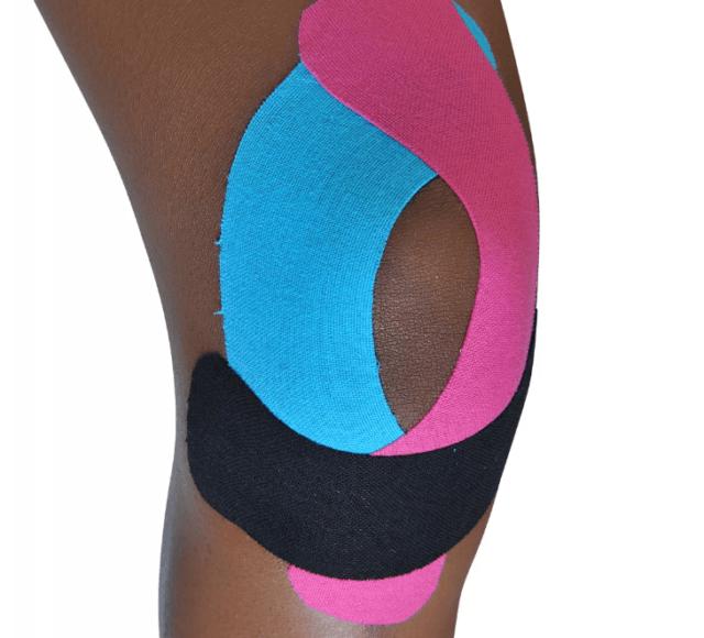 Как правильно наклеить тейп на колено (коленный сустав)