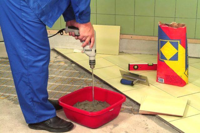 Калькулятор расхода плитки для кухни: сколько нужно клея и материалов